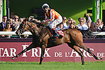 Andrasch Starke aboard Danedream  Wins The Qatar Prix De L' Arc De Triomphe Turf  (Group I) apart of the Breeders Cup Win and You're In at  Longchamp Race Course in Paris,France  on 10/02/11. Trained by Peter Schiergen (Ryan Lasek / Eclipse Sportwire)