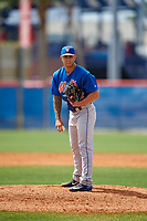 New York Mets pitcher Tyler Bashlor (46) during a Minor League Spring Training intrasquad game on March 29, 2018 at the First Data Field Complex in St. Lucie, Florida.  (Mike Janes/Four Seam Images)
