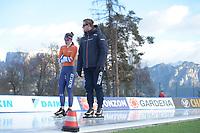 SPEED SKATING: COLLALBO: Arena Ritten, 10-01-2019, ISU European Speed Skating Championships, Ireen Wüst (NED), Peter Kolder (Trainer/coach), ©photo Martin de Jong