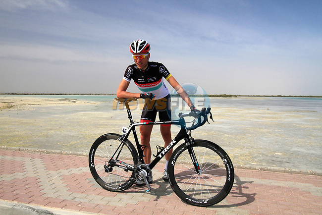 Radioshack-Nissan Trek rider Joost Posthuma (NED) before the start of Stage 4 of the 2012 Tour of Qatar from Al Thakhira to Madinat Al Shamal, Qatar. 8th February 2012.<br /> (Photo Eoin Clarke/Newsfile)