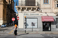 Malta, 28 December 2014<br /> <br /> The harbourfront of the Ta Xbiex and Gzira neighbourhoods opposite the old capital of Valetta. Old English wool shop.<br /> <br /> Photo Kees Metselaar