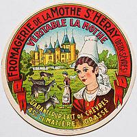 Europe/France/Poitou-Charentes/86/Vienne: Vieilles étiquettes de boites de  Fromage de Chèvre