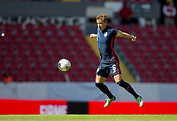 GUADALAJARA, MEXICO - MARCH 18: Jackson Yueill #6 of the United States traps the ball during a game between Costa Rica and USMNT U-23 at Estadio Jalisco on March 18, 2021 in Guadalajara, Mexico.