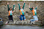 Members of the Team Ireland Tap dancers group, jumping for joy as they are waiting to head to Germany to the IDO World tap dancing championship, been held on the 23rd to the 27th November. L to r: Mairead Barry (Lisselton), Mia Keane (Castlegregory) and Maisie Hall (Dingle).