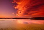Sunset over marsh, San Luis National Wildlife Refuge Complex, California, USA