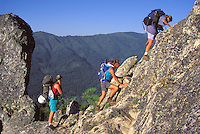 released women mountaineering group Castle Crags State park California