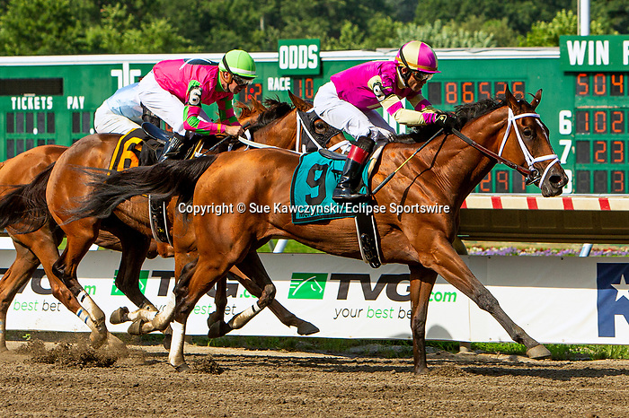 JULY 17, 2021: Graceful Princess, #9, ridden by Joel Rosario, wins the  Gr. 3 Molly Pitcher Stakes, going 1 1/16  mile, at Monmouth Park in Oceanport, NJ.  Sue Kawczynski/Eclipse Sportswire/CSM