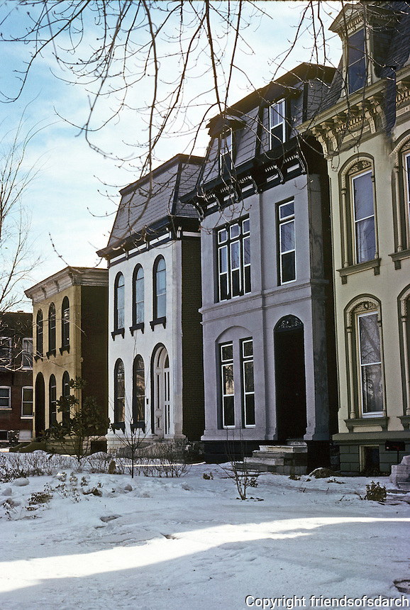 St. Louis: Row Houses, Park near Jefferson. Photo ;78.