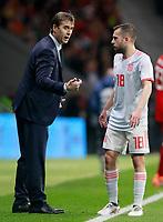 Spain's coach Julen Lopetegui with Jordi Alba during international friendly match. March 27,2018.(ALTERPHOTOS/Acero) /NortePhoto.com NORTEPHOTOMEXICO