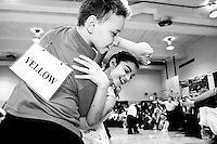 Different elementary schools compete in the Brooklyn Ballroom Dancing Championship on February 1, 2006 for the chance to advance to the New York City finals.