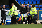 St Johnstone v Inverness Caledonian Thistle....22.02.14    SPFL<br /> Frazer Wright is stretchered off injured<br /> Picture by Graeme Hart.<br /> Copyright Perthshire Picture Agency<br /> Tel: 01738 623350  Mobile: 07990 594431