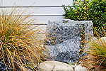 Small Water Feature in Entry.  Private garden professionally landscaped.