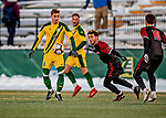 13 November 2019: University of Vermont Catamount Defender Arnar Steinn Hansson, a Senior from Garðabær, Iceland, in action against the University of Hartford Hawks at Virtue Field in Burlington, Vermont. The Catamounts fell to the visiting Hawks 3-2 in sudden death overtime of the Division 1 Men's Soccer America East matchup. Mandatory Credit: Ed Wolfstein Photo *** RAW (NEF) Image File Available ***
