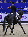 OMAHA, NEBRASKA - APR 1: Judy Reynolds rides Vancouver K during the FEI World Cup Dressage Final II at the CenturyLink Center on April 1, 2017 in Omaha, Nebraska. (Photo by Taylor Pence/Eclipse Sportswire/Getty Images)