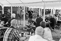 The Comedy Crate's first socially distanced comedy show at The Black Prince, Northampton, UK August 6th 2020<br /> <br /> Photo by Stuart Hogben