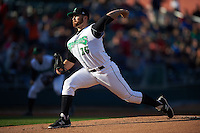 Dayton Dragons pitcher Seth Varner (26) delivers a pitch during a game against the Great Lakes Loons on May 21, 2015 at Fifth Third Field in Dayton, Ohio.  Great Lakes defeated Dayton 4-3.  (Mike Janes/Four Seam Images)