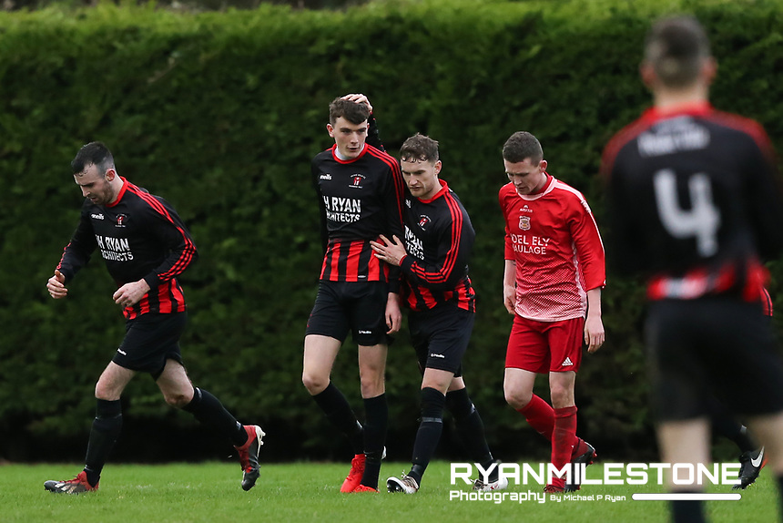 EVENT:<br /> TSDL Premier Division<br /> Two Mile Borris v Peake Villa<br /> Sunday 5th January 2020<br /> Newhill, Littleton, Co Tipperary<br /> <br /> CAPTION:<br /> Ronan McGuire of Peake Villa celebrates after scoring his side's first goal<br /> <br /> Photo By: Michael P Ryan