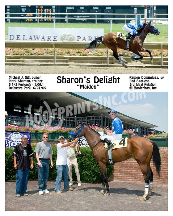 Sharon's Delight winning at Delaware Park on 6/21/05
