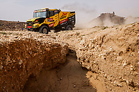 7th January 2021; Riyadh to Buraydah, Saudi Arabia; Dakar Rally, stage 5;  503 Macik Martin (cze), Tomasek Frantisek (cze), Svanda David (cze), Iveco, Big Shock Racing, Camion, Truck, action during the 5th stage of the Dakar 2021 between Riyadh and Buraydah, in Saudi Arabia on January 7, 2021