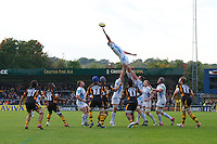 General view of a lineout during the Aviva Premiership match between London Wasps and Worcester Warriors at Adams Park on Sunday 7th October 2012 (Photo by Rob Munro)