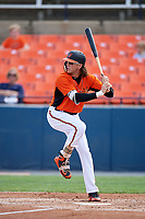 Baltimore Orioles Colby Rasmus (37), on rehab assignment with the Frederick Keys, at bat during the first game of a doubleheader against the Lynchburg Hillcats on June 13, 2018 at Nymeo Field at Harry Grove Stadium in Frederick, Maryland.  Frederick defeated Lynchburg 3-0.  (Mike Janes/Four Seam Images)