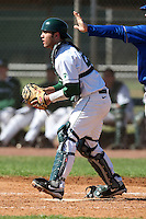 February 26, 2010:  Catcher John Martinez of the Michigan State Spartans during the Big East/Big 10 Challenge at Raymond Naimoli Complex in St. Petersburg, FL.  Photo By Mike Janes/Four Seam Images
