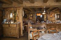 """Europe/France/Rhône-Alpes/73/Savoie/Notre-Dame-de-Bellecombe: Restaurant,Ferme Auberge,""""La Ferme de Victorine"""" la salle"""