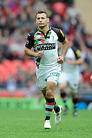 Danny Care of Harlequins during the Aviva Premiership match between Saracens and Harlequins at Wembley Stadium on Saturday 31st March 2012 (Photo by Rob Munro)