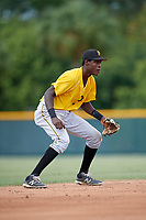 Pittsburgh Pirates Oneil Cruz (7) during an Instructional League intrasquad black and gold game on October 6, 2017 at Pirate City in Bradenton, Florida.  (Mike Janes/Four Seam Images)