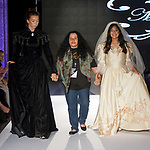 Fashion designer Melanie Caballero walks runway with models for the close of her Ashley Victorian Spring Summer 2020 runway show, for The Society Fashion Week Spring Summer 2020 during New York Fashion Week, on September 7, 2019.