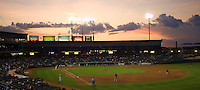 Dell Diamond Sunset 4758.jpg.  PCL baseball featuring the Memphis Redbirds at Round Rock Express at Dell Diamond on August 25th 2009 in Round Rock, Texas. Photo by Andrew Woolley.