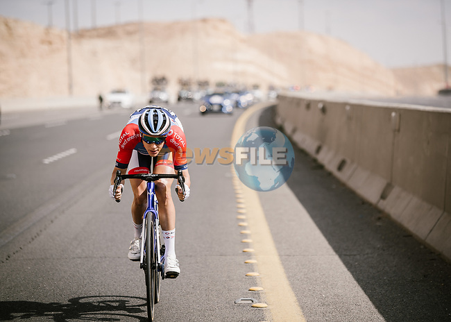 Niki Terpstra (NED) Total Direct Energie during Stage 3 of the Saudi Tour 2020 running 119km from King Saud University to Al Bujairi, Saudi Arabia. 6th February 2020. <br /> Picture: ASO/Pauline Ballet | Cyclefile<br /> All photos usage must carry mandatory copyright credit (© Cyclefile | ASO/Pauline Ballet)