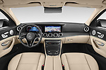 Stock photo of straight dashboard view of 2021 Mercedes Benz E-Class Avantgarde 4 Door Sedan Dashboard