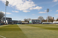 Players of both teams stand for a minutes silence during Essex CCC vs Durham CCC, LV Insurance County Championship Group 1 Cricket at The Cloudfm County Ground on 17th April 2021