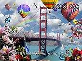 Lori, LANDSCAPES, LANDSCHAFTEN, PAISAJES, paintings+++++Golden Gate Bridge,USLS206,#l#, EVERYDAY ,puzzle,puzzles