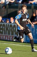 Bobby Convey dribbles the ball. Toronto FC defeated the San Jose Earthquakes 3-1 at Buck Shaw Stadium in Santa Clara, California on May 29th, 2010.