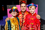 Richard Doyle, Finn Hurley and Alan Teahan back stage on stage at their performance of Aladdin in Siamsa Tire on Saturday.