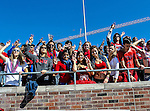 Southern Methodist Mustangs fans watch the game between the Memphis Tigers and the Southern Methodist Mustangs at the Gerald J. Ford Stadium in Dallas, Texas. SMU defeats Memphis 44 to 13.
