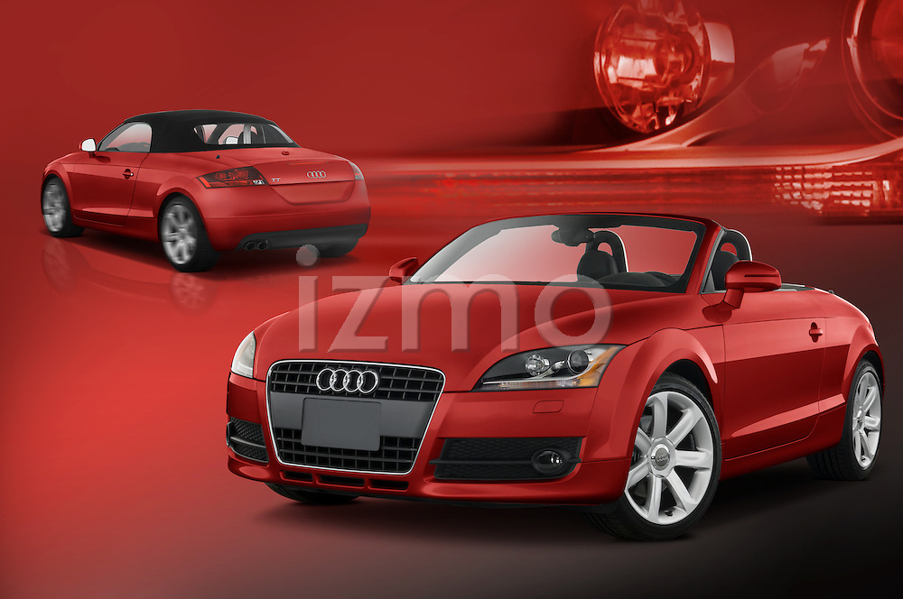 Composite images of red 2008 Audi TT roadster