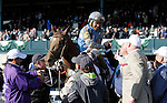 LEXINGTON, KY - APRIL 09: #6 Brody's Cause and jockey Luis Saez with connections celebrating on the track after winning the 92nd running of the Toyota Blue Grass (Grade 1) $1,000,000 at Keeneland race course for owner Albaugh Family Stable (Dennis Albaugh) and trainer Dale Romans. April 9, 2016 in Lexington, Kentucky. (Photo by Candice Chavez/Eclipse Sportswire/Getty Images)
