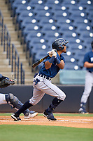 Lakeland Flying Tigers Jose King (58) bats during a game against the Tampa Tarpons on July 18, 2021 at George M. Steinbrenner Field in Tampa, Florida.  (Mike Janes/Four Seam Images)