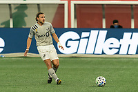 FOXBOROUGH, MA - SEPTEMBER 23: Samuel Piette #6 of Montreal Impact passes the ball during a game between Montreal Impact and New England Revolution at Gillette Stadium on September 23, 2020 in Foxborough, Massachusetts.