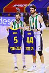 League ACB-ENDESA 2020/2021.Game 15.<br /> FC Barcelona vs Club Joventut Badalona: 88-74.<br /> Pau Ribas & Ante Tomic.