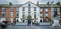 Pictured: The Castell Hotel in the Caste Square, Caernarfon. Saturday 02 November 2019<br /> Re: North Wales, UK.