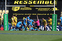 2nd May 2021; Stade Marcel-Deflandre, La Rochelle, France. European Champions Cup Rugby La Rochelle versus  Leinster Semi-Final;  TADHG FURLONG scores his try for Leinster