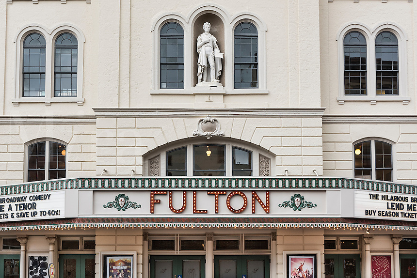 Fulton Theatre exterior marquee, Lancaster, Pennsylvania, USA