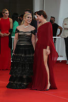 """VENICE, ITALY - SEPTEMBER 08: Anastacia and Alba-Amira Ramadani attend the red carpet of the movie """"Freaks Out"""" during the 78th Venice International Film Festival on September 08, 2021 in Venice, Italy. (Photo by Mark Cape/Insidefoto)"""