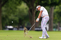 30th May 2021; Fort Worth, Texas, USA;  Ian Poulter hits his approach shot to #11 during the final round of the Charles Schwab Challenge on May 30, 2021 at Colonial Country Club in Fort Worth, TX.