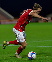 21st November 2020, Oakwell Stadium, Barnsley, Yorkshire, England; English Football League Championship Football, Barnsley FC versus Nottingham Forest; Callum Brittain of Barnsley on the ball
