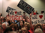 Ron Paul supporters cheer during the Nevada Republican Party Convention in Sparks, Nev., on Saturday, May 5, 2012..Photo by Cathleen Allison